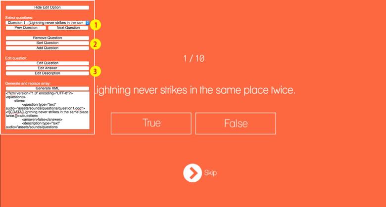 True or False - HTML5 Game - 1
