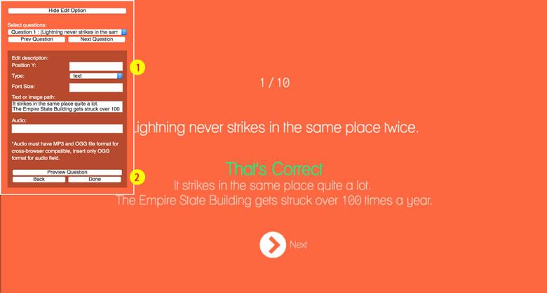 True or False - HTML5 Game - 4