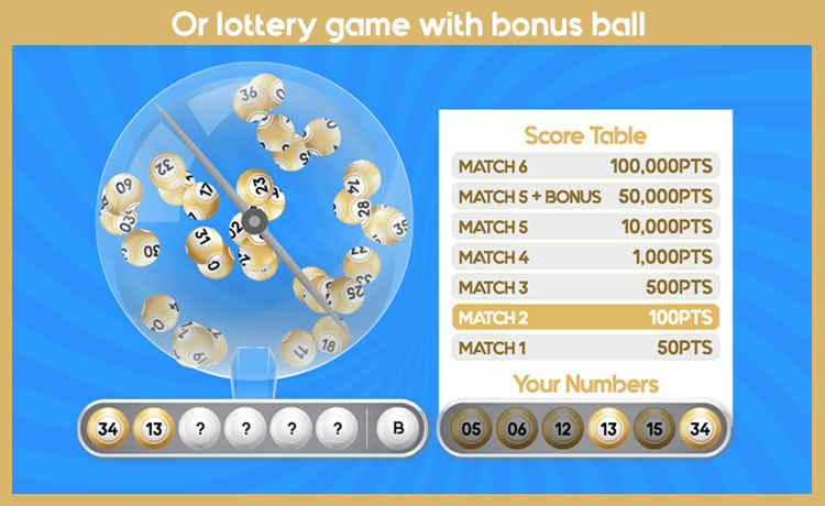 Lottery Numbers - HTML5 Game - 2