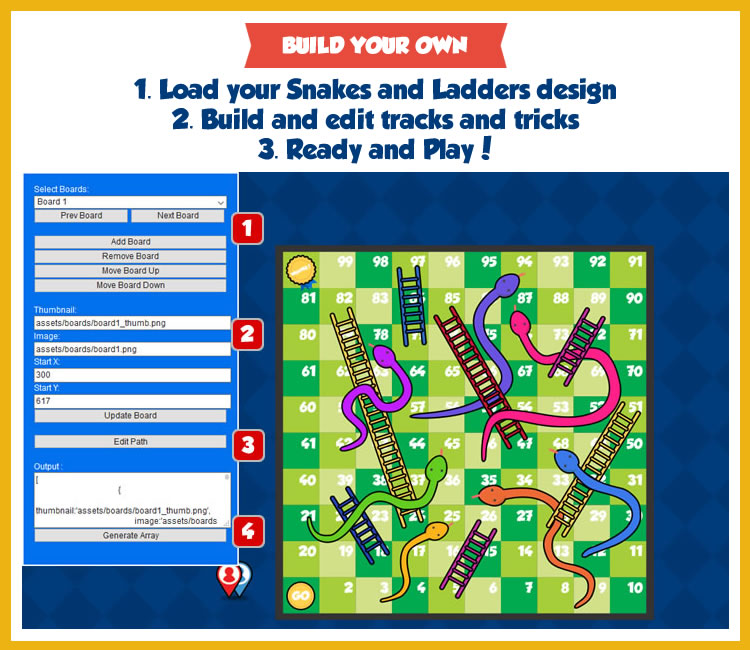 Snakes and Ladders - HTML5 Game - 1